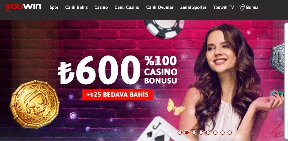 youwin casino bonuslari nelerdir